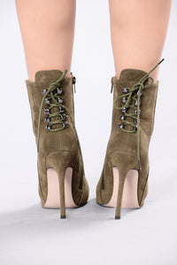 Dancing All Night Boot - Olive