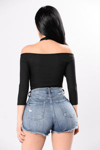 I'm On My Way Bodysuit - Black