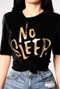 No Sleep Tee - Black