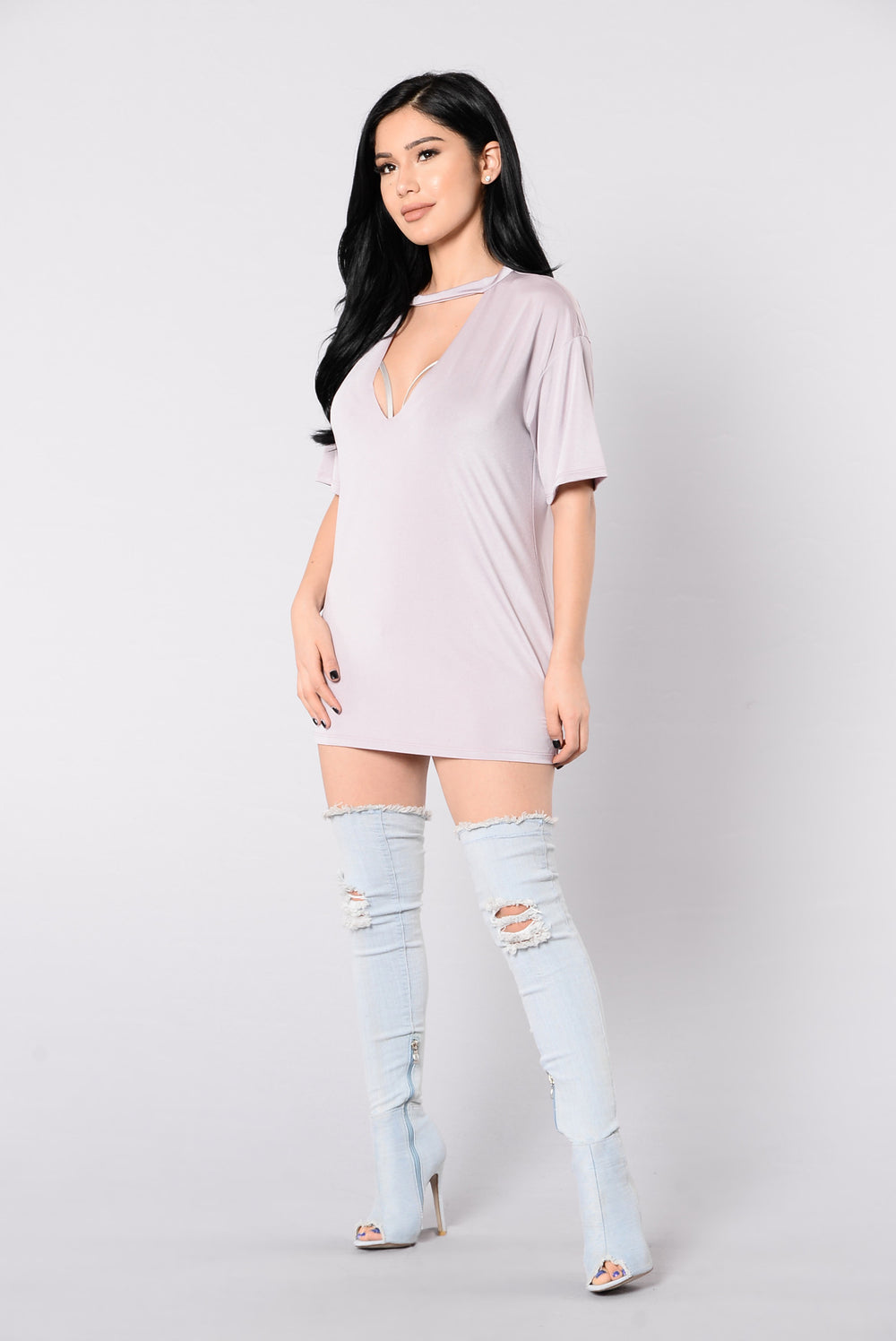 Hole New World Top - Mauve