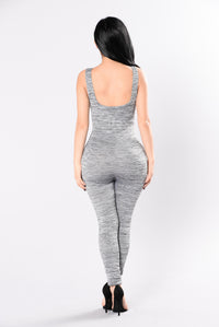 Papa Don't Preach Jumpsuit - Grey