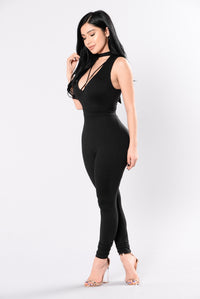Cross My Path Jumpsuit - Black