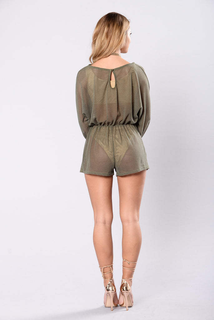 Swim Good Romper - Olive