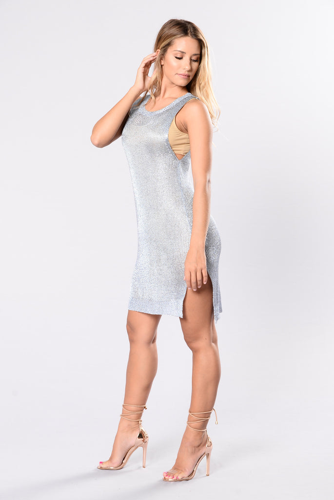 Always On Vacation Cover Up Dress - Blue