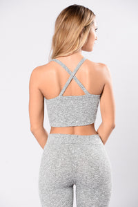 So Undercover Top - Heather Grey Angle 2