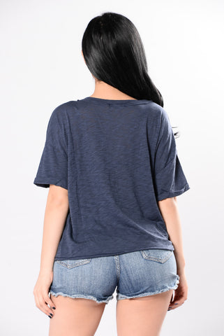 Keep Each Other Close Top - Navy