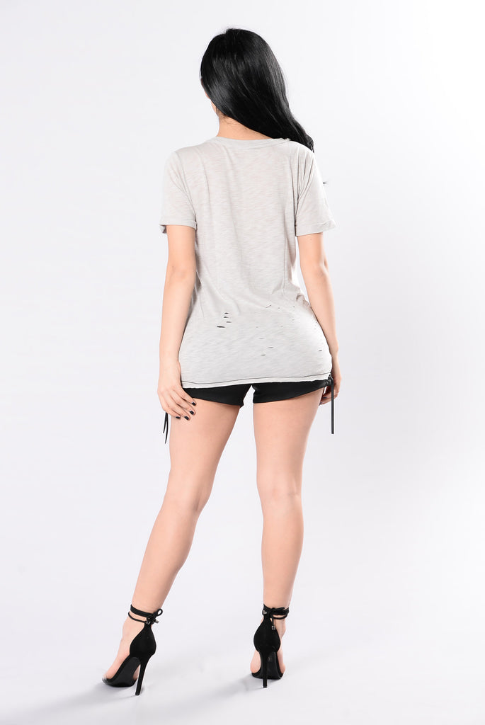 Mesh Around Tee - Grey