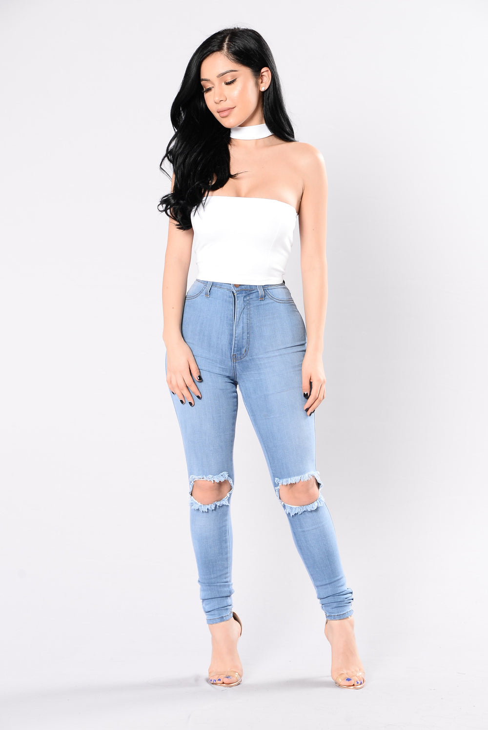 Justify My Sass Top - White