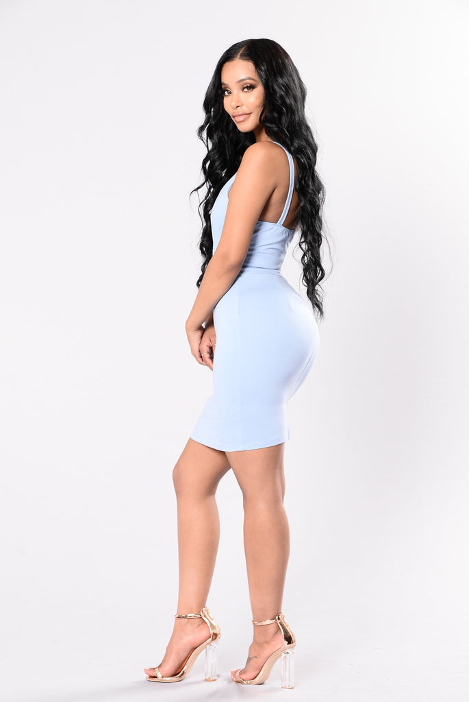 Bounce Back Dress - Light Blue