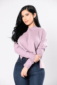 Breaking The Rules Sweater - Mauve