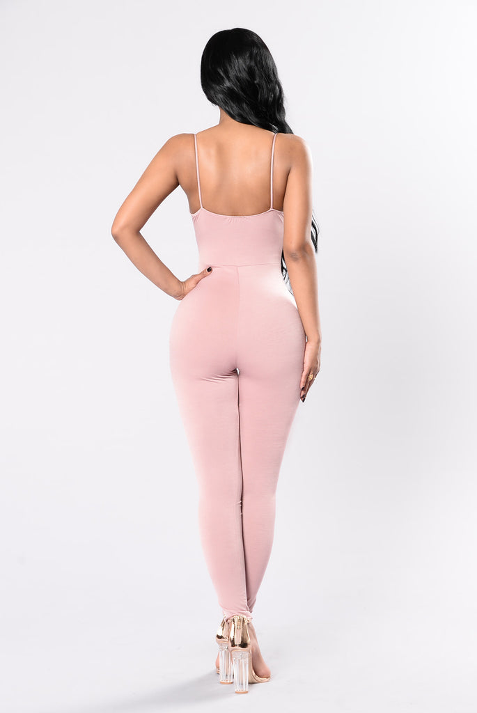 Find Your Way Jumpsuit - Dusty Blush