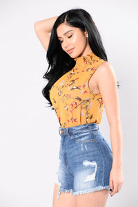 The Mission Bodysuit - Mustard