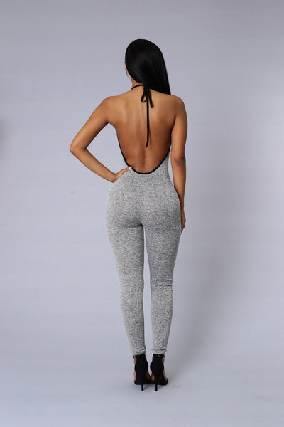 Lead the Pack Jumpsuit - Grey