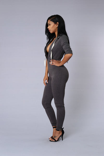 Hooligan Jumpsuit - Charcoal