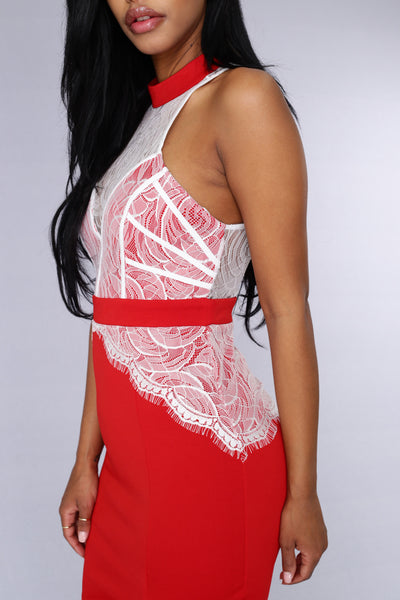Lovely Date Dress - Red