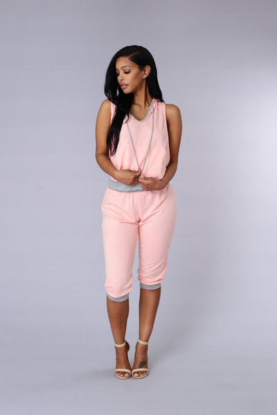 Rogue Crop Pant - Blush/Grey