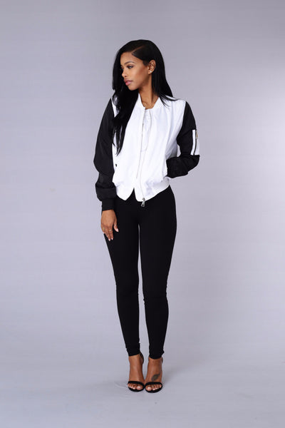 Rivalry Jacket - White/Black