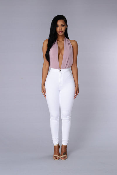 Dip Out Bodysuit - Lavender