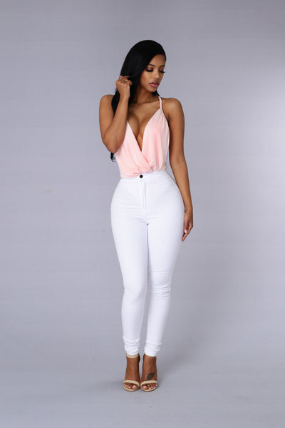 Sylvie Bodysuit - Blush