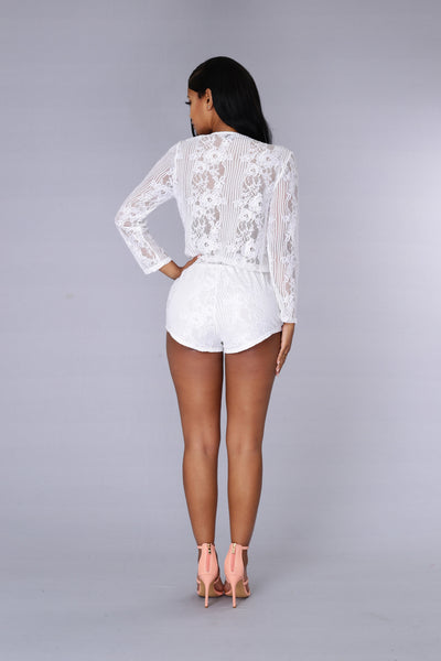 Sweet Nothing Romper - White