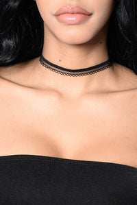 Ride Or Die With Me Choker Set - Black