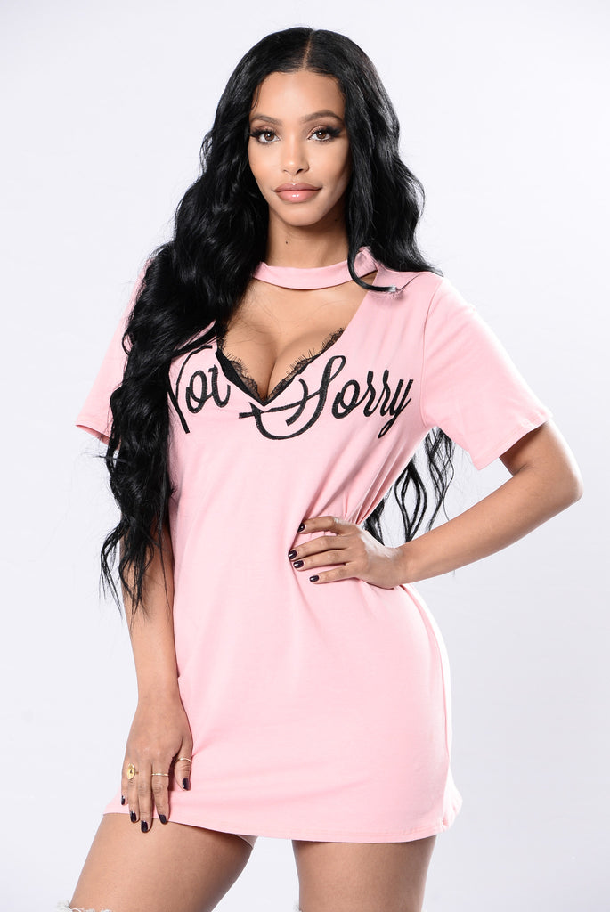 Not Sorry Tee - Blush