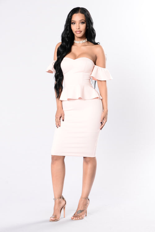 Asking For Your Touch Dress - Mango Peach
