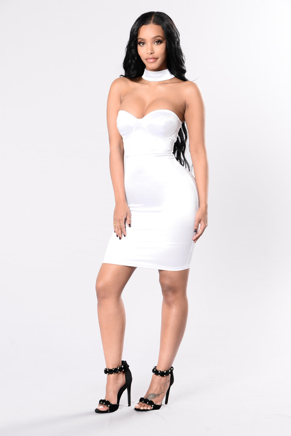 Got Your Man Looking Dress - White