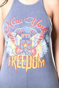 Let There Be Freedom Top - Indigo