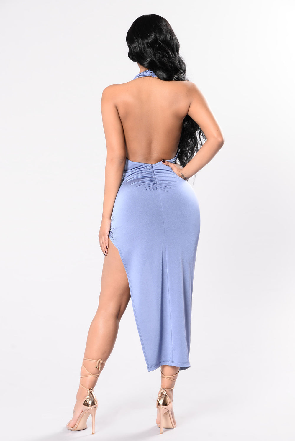 Show It Off Dress - Show Blue