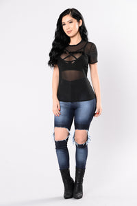 Girl Power Top - Black