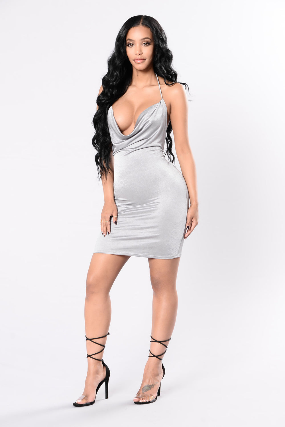 Your Drape Goals Dress - Silver