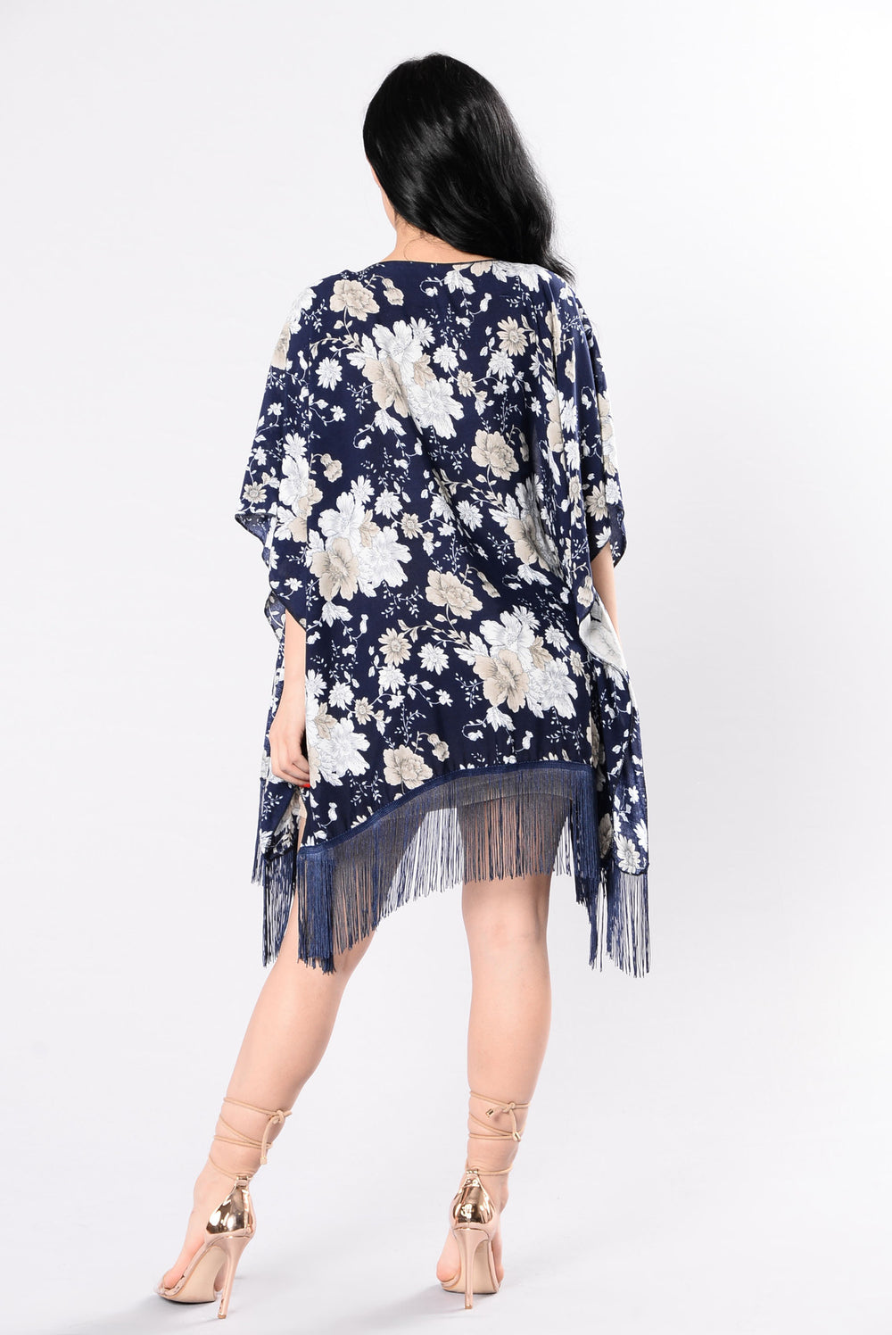 Feel The Love In The Air Kimono - Navy/Blue