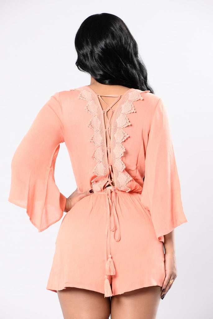 Fighting With Fire Romper - Dusty Coral