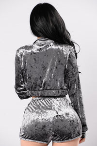 Working It Out Jacket - Charcoal