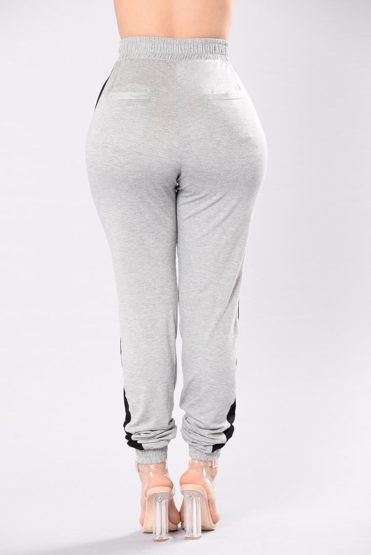 Je T'aime Pants - Heather Grey/Black
