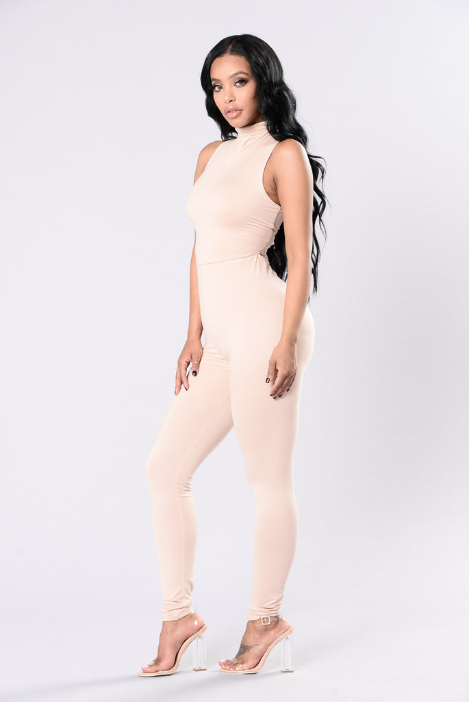 Losing Myself Again Jumpsuit - Nude
