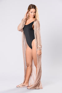 Hey Love Cardigan - Rose Gold