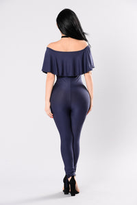 Who's Gonna Love You Jumpsuit - Navy