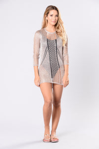 Island Getaway Cover Up Dress - Rose Gold