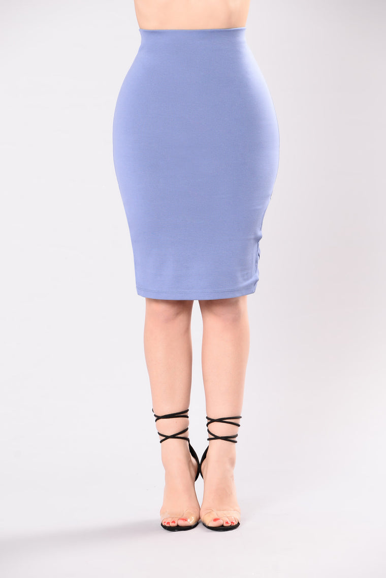 Maybe Now Skirt - Denim Blue