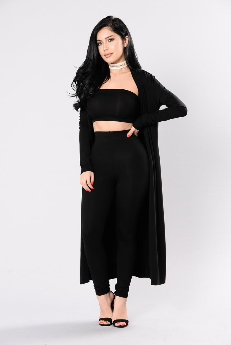 Come Get It Bae Cardigan - Black