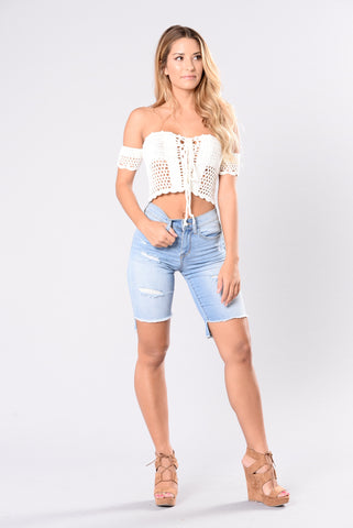 Boomuda Shorts - Light Denim