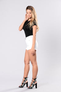 Beach Bound Shorts - White