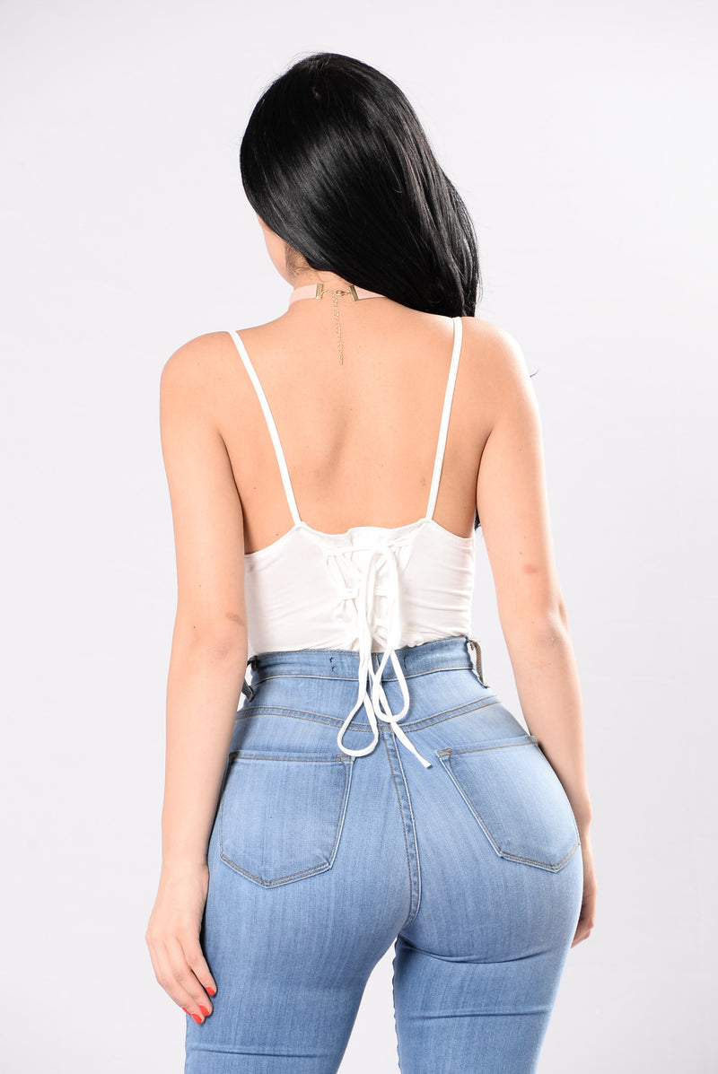 Not Leaving Without You Bodysuit - White