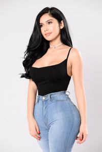 Not Leaving Without You Bodysuit - Black
