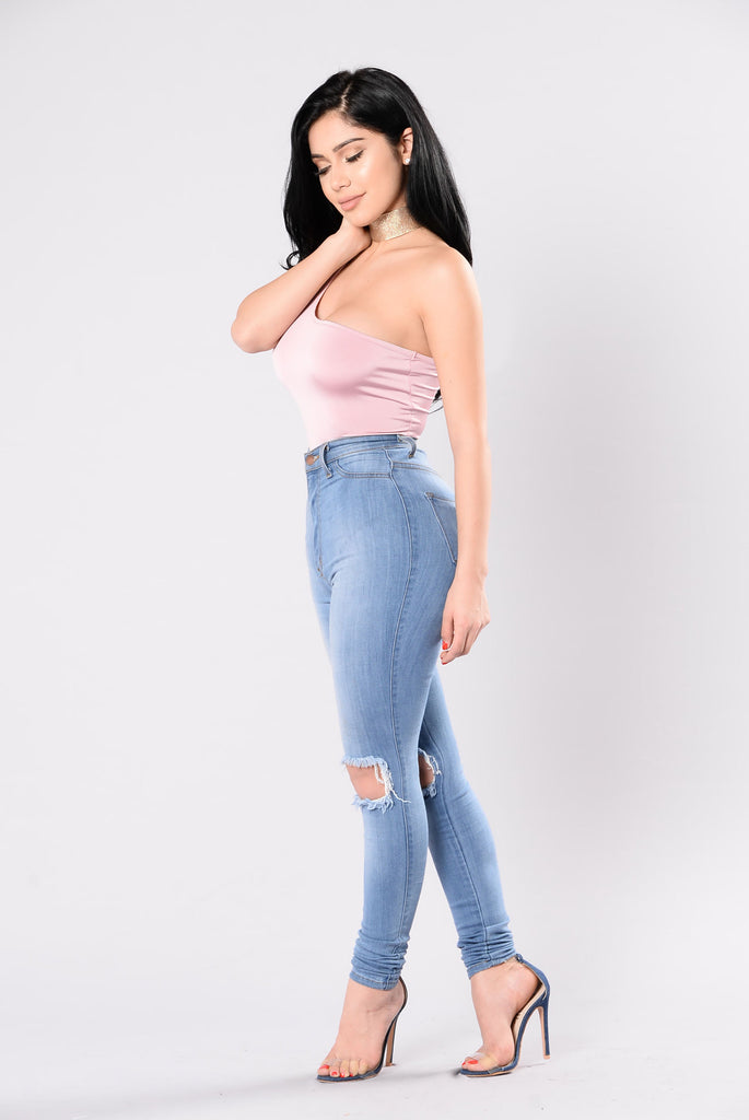 Never Gonna Give You Up Bodysuit - Dusty Pink