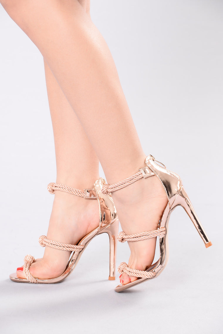 Too Knotty Heel - Rose Gold
