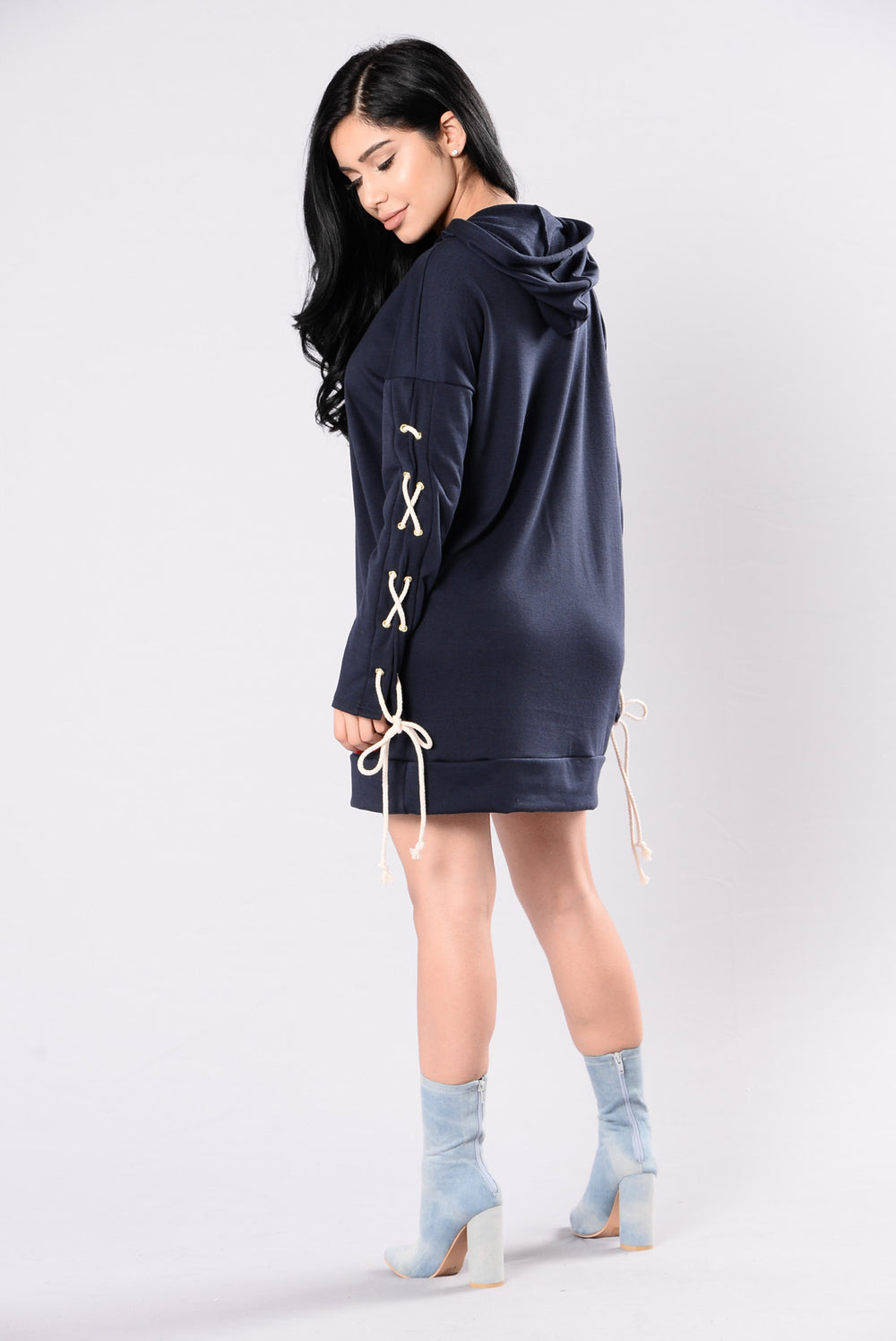 Hold Me Back Tunic - Navy
