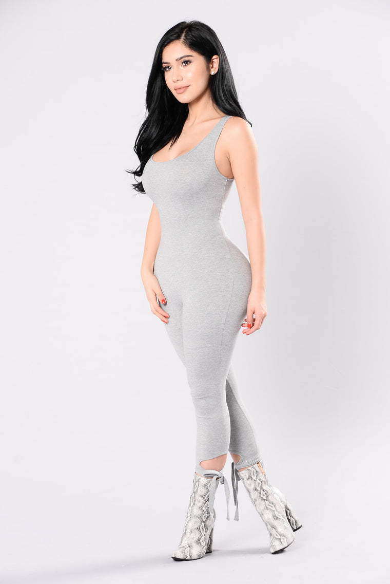 Look Me Up And Down Jumpsuit - Grey